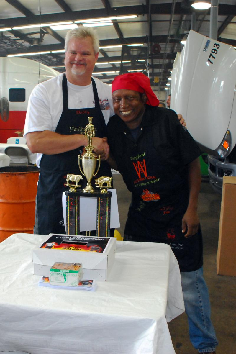 Cookoff at Ward International Trucks between Bobby and Rayford